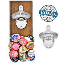 Load image into Gallery viewer, Gifts for Men Dad, Wall Mounted Magnetic Bottle Opener, Unique Beer Gift Ideas for Him Boyfriend Husband Grandpa Uncle, Cool Gadgets Christmas Stocking Stuffers, Birthday Housewarming Anniversary