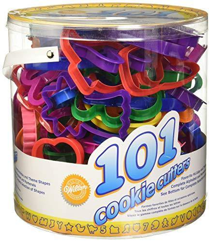 Wilton Cookie Cutters Set, 101-Piece — Alphabet, Numbers and Holiday Cookie Cutters - PHUNUZ