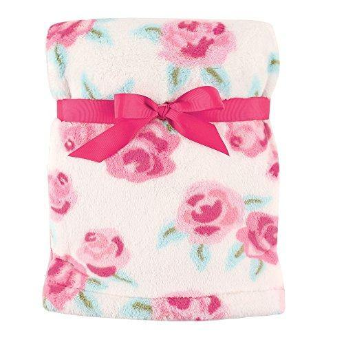 Hudson Baby Unisex Baby Super Plush Blanket, Rose, One Size - PHUNUZ