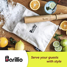 "Load image into Gallery viewer, BIG-SHOT 13.75"" Hard Maple Muddler Mallet & Lewis Ice Bag Kit by BARILLIO 