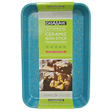 Load image into Gallery viewer, casaWare Toaster Oven Baking Pan 7 x 11-inch Ceramic Coated Non-Stick (Blue Granite)