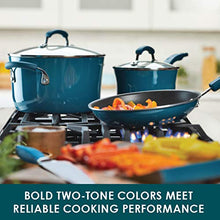 Load image into Gallery viewer, Rachael Ray Brights Sauce Pot/Saucepot with Steamer Insert, 3 Quart, Marine Blue Gradient