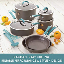 Load image into Gallery viewer, Rachael Ray Cucina Hard Anodized Nonstick Sauce Pan/Saucepan with Lid, 3 Quart, Blue