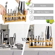 Load image into Gallery viewer, Bartender Kit, 13 Piece Boston Cocktail Shaker Stainless Steel Bar Set with Shaker Tins,Measuring Jigger, Spoon, Pourers, Muddler, Strainer, Tongs, Bottle Stoppers, Opener, Stand, Recipes