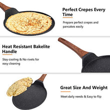 Load image into Gallery viewer, ESLITE LIFE Crepe Pan Pancake Dosa Tawa Pan Nonstick Flat Griddle Frying Skillet Pan for Omelette, Tortillas, Induction Compatible, 11 Inch