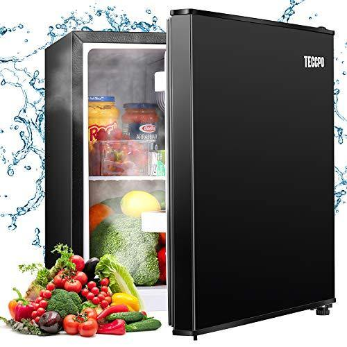 Mini Fridge, TECCPO 1.7 Cu.Ft. Dorm Refrigerator, Energy Star Compact Refrigerator, 6 Adjustable Thermostat Control, One-touch Easy Defrost, 37 dB Quiet Small Refrigerator for Bedroom, Dorm, Office - Black - PHUNUZ