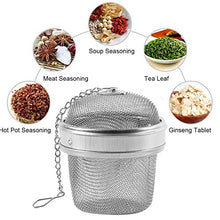 Load image into Gallery viewer, 2 pack Stainless Steel 3 Inch Spice Ball Tea Strainer Tea Infuser Seasoning Ball