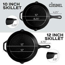 Load image into Gallery viewer, Pre-Seasoned Cast Iron Skillet 4-Piece Chef Set (6-Inch 8-Inch 10-Inch 12-Inch) Oven Safe Cookware - 4 Heat-Resistant Holders - Indoor and Outdoor Use - Grill, Stovetop, Induction Safe