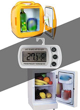 Load image into Gallery viewer, Refrigerator Fridge Thermometer Digital Freezer Room Thermometer Waterproof, Max/Min Record Function with Large LCD Display