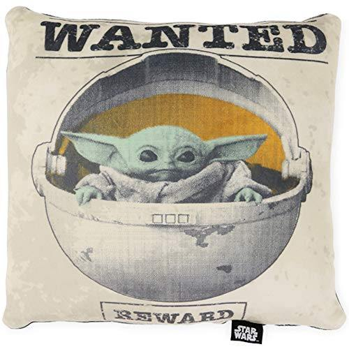 Disney Star Wars The Mandalorian Wanted Baby Yoda The Child Squishy Plush Throw Pillow - 13x11 inches - PHUNUZ