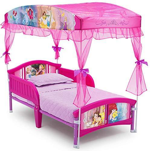 Delta Children Canopy Toddler Bed, Disney Princess - PHUNUZ