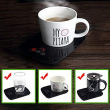 Load image into Gallery viewer, Nicelucky Coffee mug warmer for desk with heating function 25 Watt Electric Beverage Warmer with Adjustable temperature 131℉/ 55℃or 176℉/ 80℃