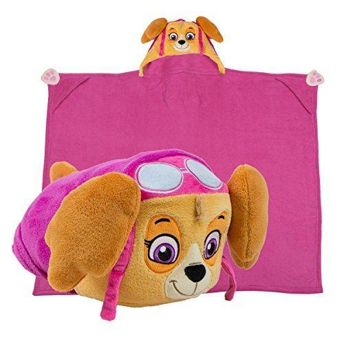 Comfy Critters Stuffed Animal Plush Blanket – PAW Patrol Skye – Kids Wearable Pillow and Blanket Perfect for Pretend Play, Travel, nap time. - PHUNUZ