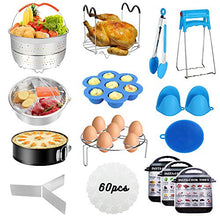 Load image into Gallery viewer, Instant Pot Accessories Set, 73 PCS Instant Pot Accessories Compatible with 5,6,8Qt - 60 Pcs Parchment Papers, 2 Steamer Baskets, Non-stick Springform Pan, Egg Rack, Egg Bites Mold, Kitchen Tong, Dish
