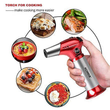 Load image into Gallery viewer, Butane Torch, Kollea Kitchen Blow Torch Refillable Cooking Torch Lighter, Mini Creme Brulee Torch with Safety Lock & Adjustable Flame for Desserts, BBQ, Soldering (Butane Gas Not Included) - PHUNUZ