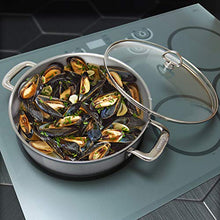 Load image into Gallery viewer, Chantal Induction 21 Steel Sauteuse with Glass Tempered Lid (5-Quart)