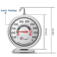 "Load image into Gallery viewer, Large 3"" Dial Oven Thermometer - KT THERMO (2019 New Design) NSF-Approved accurately Easy-to-Read Extra Large Clearly Display Shows Marked temperatures for Professional and Home Kitchens Cooking (1)"