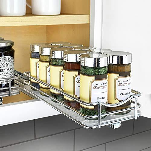 Lynk Professional Slide Out Spice Rack Upper Cabinet Organizer, 4-1/4