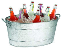 Load image into Gallery viewer, TableCraft Galvanized Oval Beverage Tub, 22.8 x 14.5 x 9.5-Inch