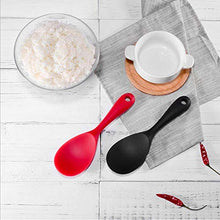 Load image into Gallery viewer, Silicone Rice Paddle Spoon,Non-stick/Eco-friendly/Heat-resistant, Works for Rice/Mashed Potato or more(black)