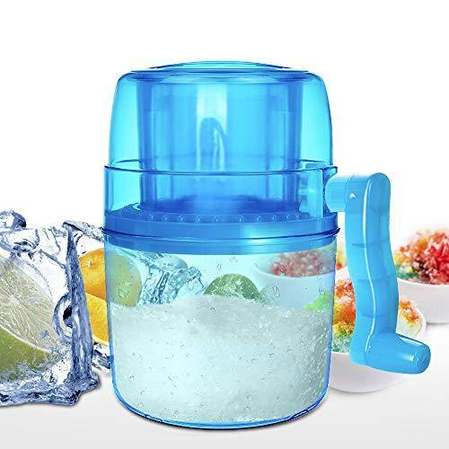 Ice Shaver, Shaved Ice Machine, LEMBO DIRECT Premium Manual Hand Crank Operated Ice Breaker Ice Crusher Maker Snow Cone Machine with Stainless Steel Blades for Fast Crushing, Fun and Easy Iced Treat - BPA Free - PHUNUZ