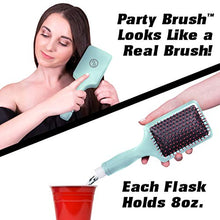Load image into Gallery viewer, GoPong Party Brush Flask 2 Pack - Hidden Alcohol Booze Bottles, Includes Funnel and Liquor Bottle Pour Spout, Pink, Green