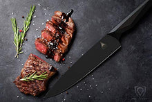 "Load image into Gallery viewer, DALSTRONG Chef Knife - 9.5"" - Shadow Black Series - Black Titanium Nitride Coated - High Carbon - 7CR17MOV-X Vacuum Treated Steel- Sheath - NSF Certified"