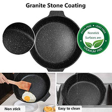 Load image into Gallery viewer, ESLITE LIFE Deep Frying Pan with Lid Nonstick Saute Pan with Granite Stone Coating, 11 Inch (5Quart)