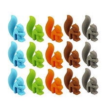 Load image into Gallery viewer, Tea Bag Holder 15 Pcs Cut Squirrel Shape Silicone Tea Bag Holder Drink Marks