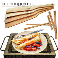 Load image into Gallery viewer, Crepe Spreader and Spatula 4 Set - Crepes De Espatula - 12 Inch Crepe Spatula 3.5, 5, 7 Inch Spreaders Kit - all Natural Ashtree - Creperie Pancake Maker - all Sizes To Fit For Crepe Pans