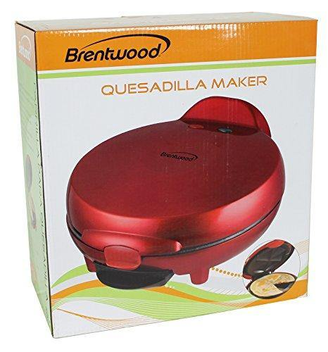 Brentwood Quesadilla Maker, 8-inch, Red - PHUNUZ