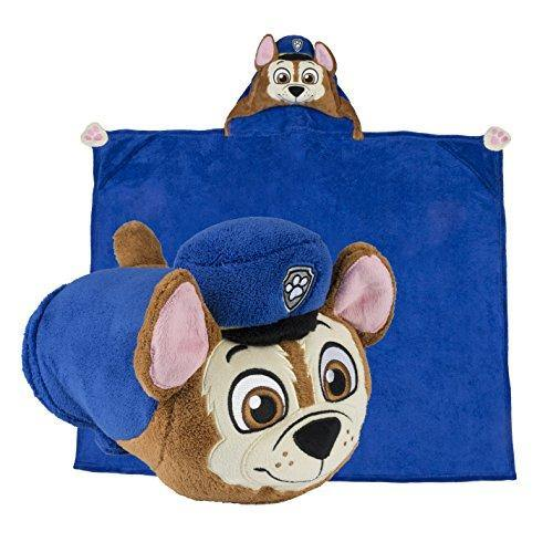 Comfy Critters Stuffed Animal Blanket – PAW Patrol Chase – Kids Huggable Pillow and Blanket Perfect for Pretend Play, Travel, nap time. - PHUNUZ