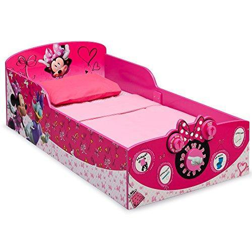 Delta Children Interactive Wood Toddler Bed, Disney Minnie Mouse - PHUNUZ