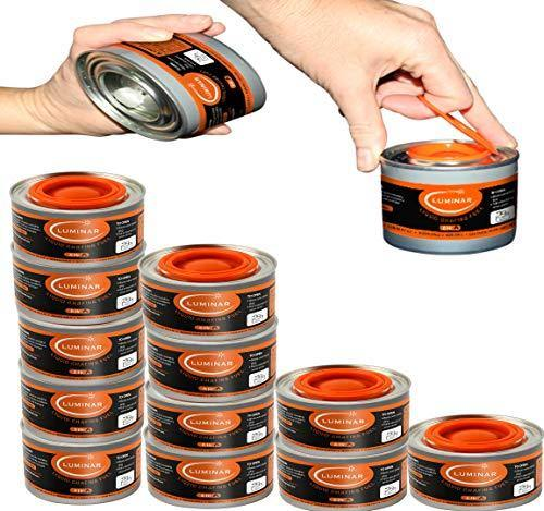 Chafing Fuel Cans - Food Warming Wick Candle Burners for Buffet Dishes (12, 6 HOUR) - PHUNUZ