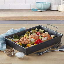 Load image into Gallery viewer, Chicago Metallic Professional Roast Pan with Non-Stick Rack, 13-Inch-by-9, Gray