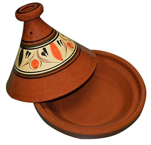 Moroccan Cooking Tagine Medium Lead Free Traditional Handmade - PHUNUZ