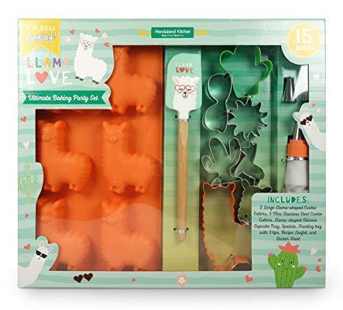 Handstand Kitchen Llama Love 15-piece Ultimate Baking Party with Recipes for Kids - PHUNUZ