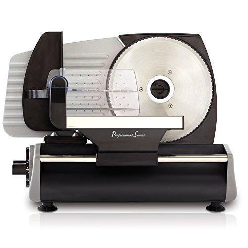 Continental Electric Pro Series Meat Slicer, Smooth Blade, Stainless Steel - PHUNUZ