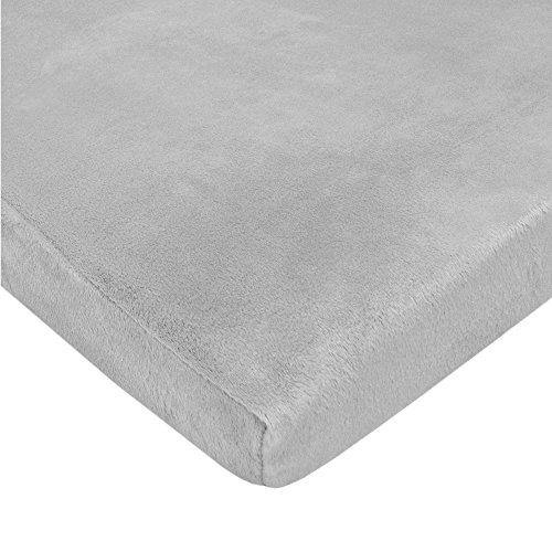 American Baby Company Heavenly Soft Chenille Fitted Pack N Play Playard Sheet, Gray, 27 x 39, for Boys and Girls - PHUNUZ
