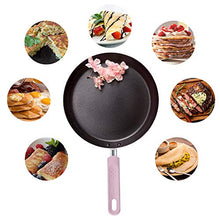 Load image into Gallery viewer, Crepe Pan, ROCKURWOK Nonstick Pancake Pan with Silicone Handle Frying Skillet Griddle for Omelette, Tortillas, Dosa, 9.5-Inch, Sakura Pink