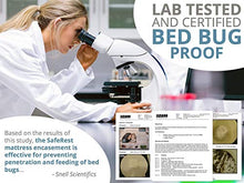 Load image into Gallery viewer, SafeRest SPLIT KING (Contains TWO TWIN XL encasements Needed For SPLIT KING Box Springs) Premium Box Spring Encasement - Lab Tested Bed Bug Proof, Dust Mite Proof and Waterproof - Vinyl Free