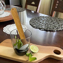 Load image into Gallery viewer, efo Wooden Muddler for Cocktails – Durable Wood Ice Crusher – Stylish Wooden Mojito Muddler Bar Tool – Handy Cocktail Muddler- Perfect Masher Kitchen Tool for Garlic Avocado Herbs and Fruits