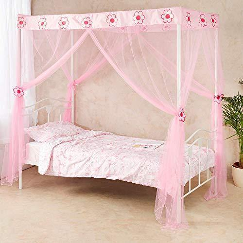 Wremedies for Easier Living Princess Bed Canopy for Girls Tie backs Birthday Gift Mosquito Netting Bed Bedroom Accessory Easy Installation Twin Bed Tent - PHUNUZ