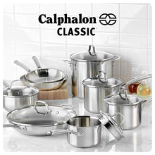 Load image into Gallery viewer, Calphalon Classic Stainless Steel Pots and Pans Set, 14-Piece, Silver