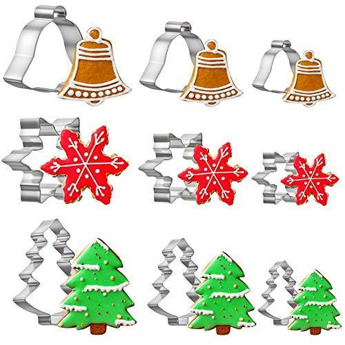 Christmas Sandwich Cutter Set, Cookie Cutter Set for Kids of All Ages, Stainless Steel Cookie Cutter Set for Mini Cookie, Vegetable and Fruit - PHUNUZ