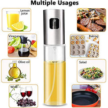 Load image into Gallery viewer, Olive Oil Sprayer Dispenser for Cooking, Food-Grade Glass Oil Spray Bottle Oil Dispenser,Olive Oil Sprayer for BBQ/Making Salad/Baking/Frying Kitchen