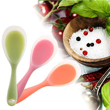 Load image into Gallery viewer, Non Stick Silicone Rice Paddle Food Grade Silicone Rice potato food Service Spoon (Green)