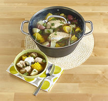 Load image into Gallery viewer, IMUSA USA Light Cast Iron Dutch Oven with Stainless Steel Handle 6.2-Quart, Black