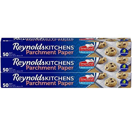 Reynolds Kitchens Parchment Paper Roll with SmartGrid - 3 Boxes of 50 Square Feet (150 Sq. Ft Total) - PHUNUZ