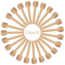 Load image into Gallery viewer, Creative Hobbies 24 Pack of Mini 3 Inch Wood Honey Dipper Sticks, Individually Wrapped, Server for Honey Jar Dispense Drizzle Honey, Wedding Party Favors